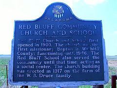 Exploring Oklahoma History: Red Bluff Community Church and School
