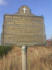 Exploring Oklahoma History: Rock Spring Baptist Church